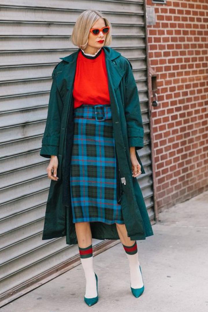 How to wear tartan plaid skirt
