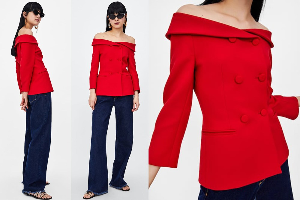 Zara Red Blazer looks like Meghan Markle's Trooping the colour dress