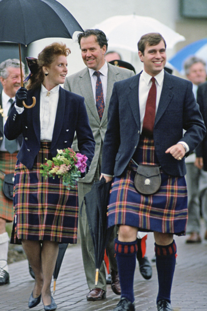 Royal family made tartan Scottish style