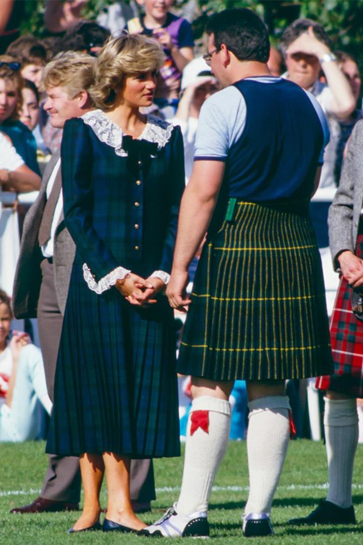 Royal family made tartan Scottish style