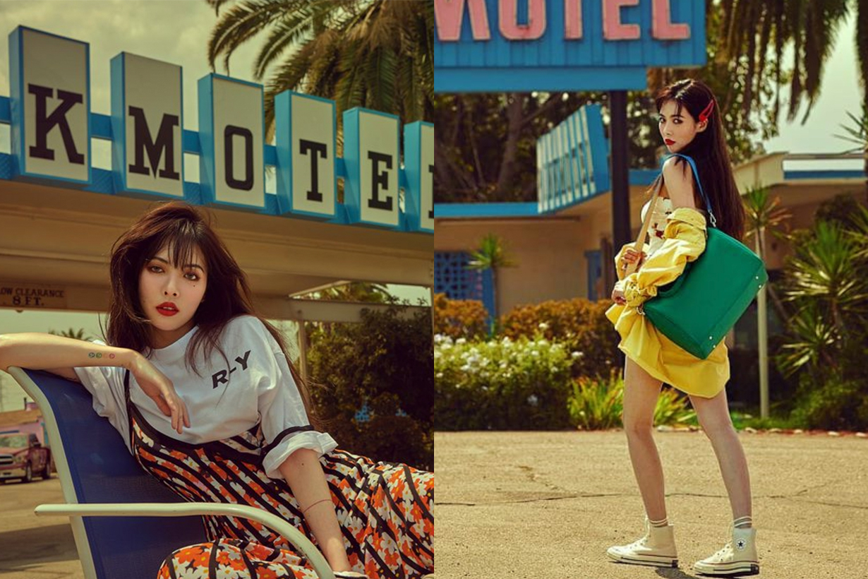 hyuna hot sexy in the streets of los angeles for grazia