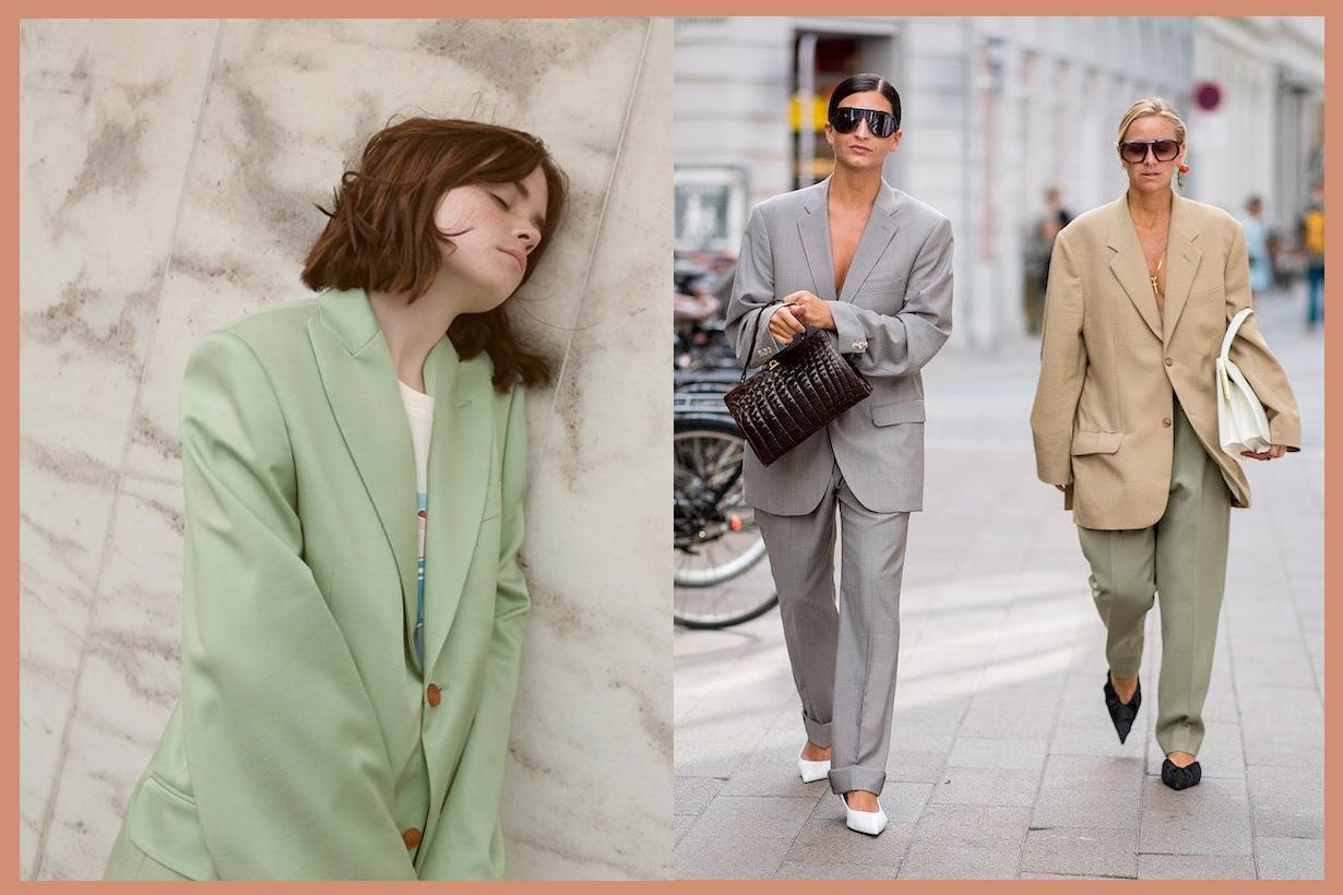 Grandpa Blazer styling item oversized coat fall trends vintage