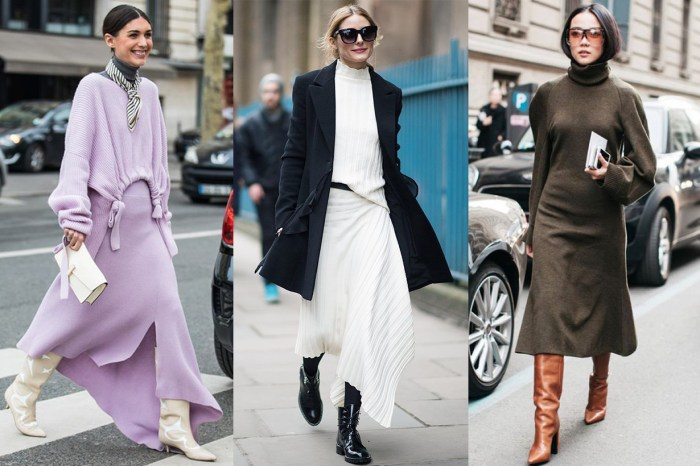 看完這輯秋冬街拍 30+,可能你也會愛上「裙子+靴」這配搭!
