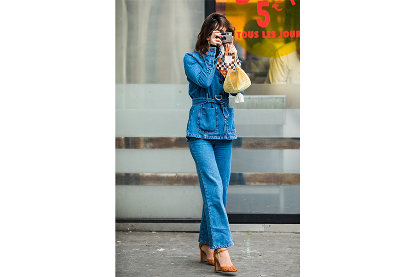 Jeanne Damas Denim on Denim French Style