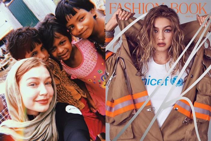 心善自然人美!Gigi Hadid 親赴孟加拉幫助難民兒童,贏盡了粉絲一片掌聲