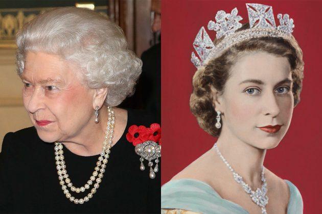 Queen Elizabeth II Bahrain Pearl Drop Earrings