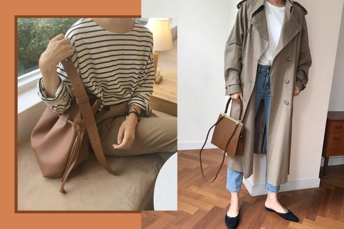 最適合初秋的現在,「深啡色」手袋已成了韓國女生的新歡!