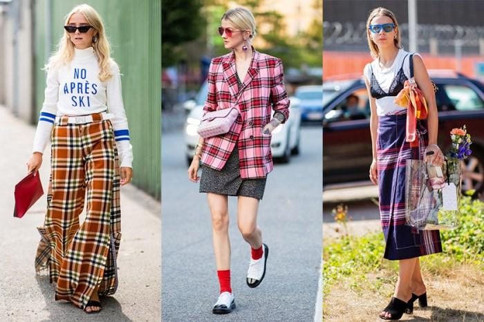 由夏季過度至秋季:北歐女生示範格仔圖案的時尚配搭法,原來新鮮感是這樣穿出來!