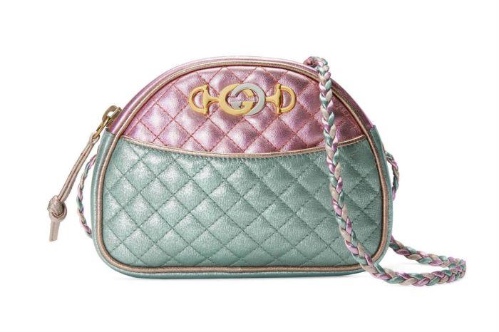 Gucci 這款全新金屬皮革迷你手袋,絕對足以治癒妳的心!