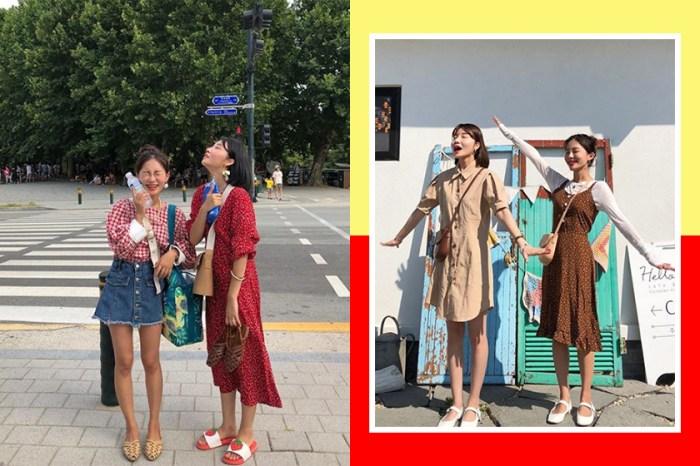 一式一樣太老套了!現在閨密裝要跟這對韓國姐妹穿才夠時尚!