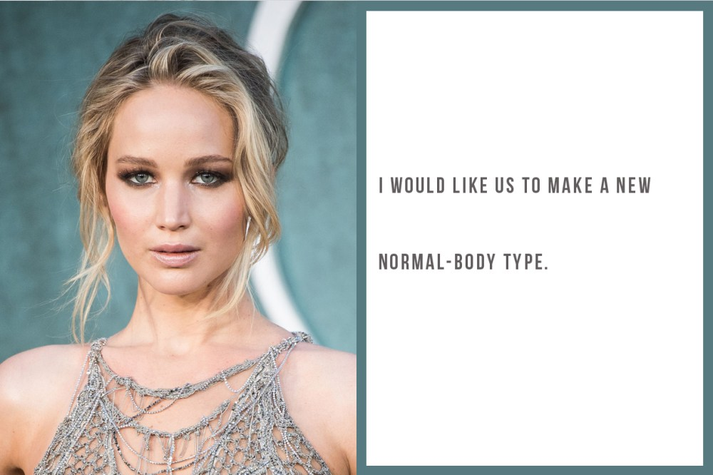 Jennifer Lawrence Oscar body type body positivity being fat thin skinny on diet healthy hungry