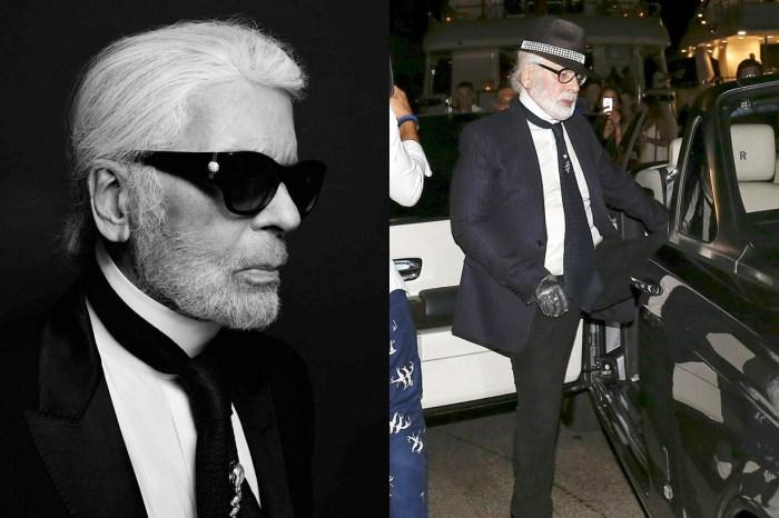 這為親和力十足的老爺爺是誰?拿下墨鏡的 Karl Lagerfeld 差點讓人認不出!