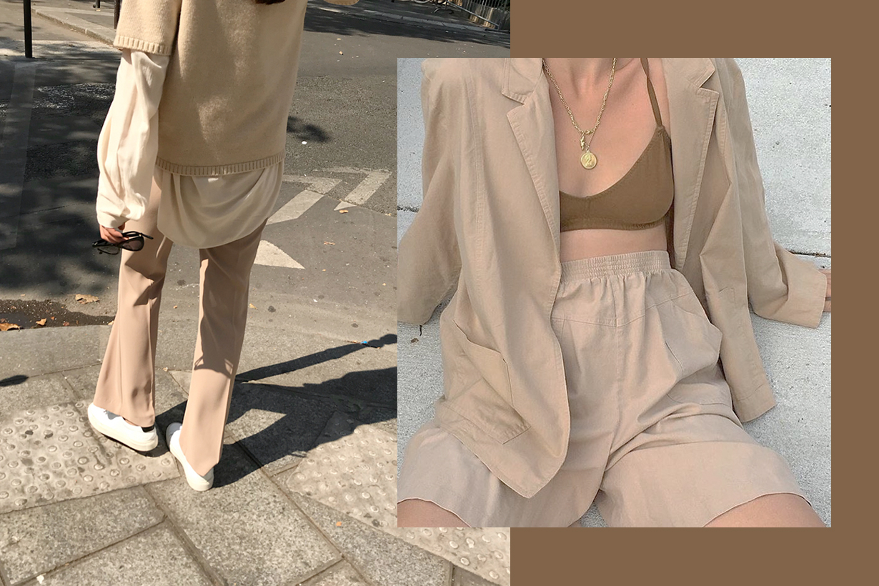 ALL NUDE COLOUR LOOK OUTFIT INSPIRAITON