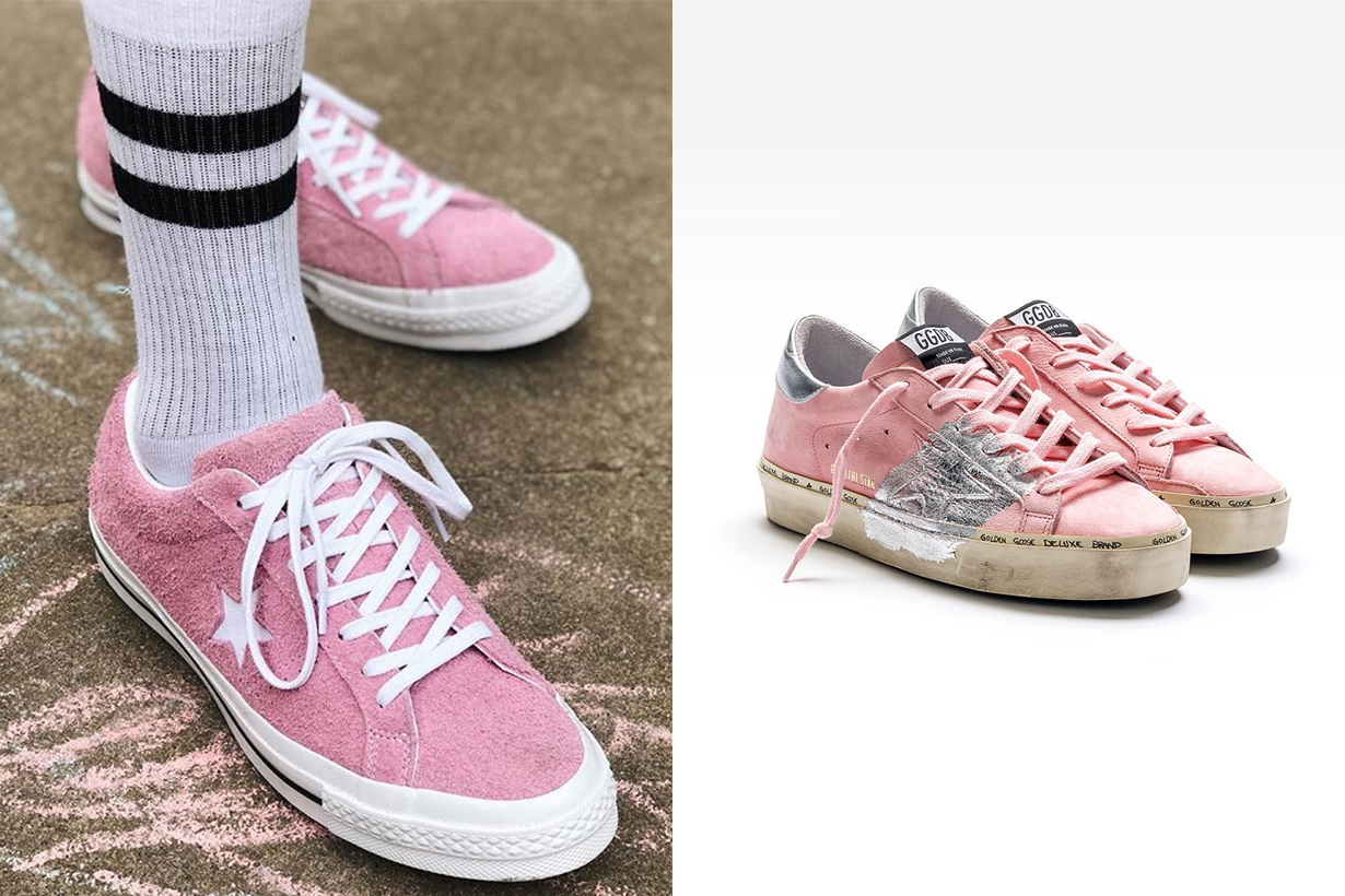 pink sneakers style 2018