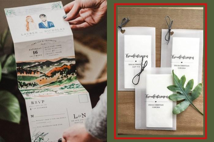 棄掉大紅喜帖!Pinterest 最火紅的婚禮邀請卡都在這裡