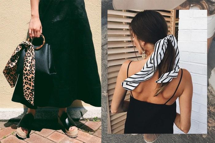 潮人們把絲巾襯得出神入化,看完這 10 種方法後心動想試戴!