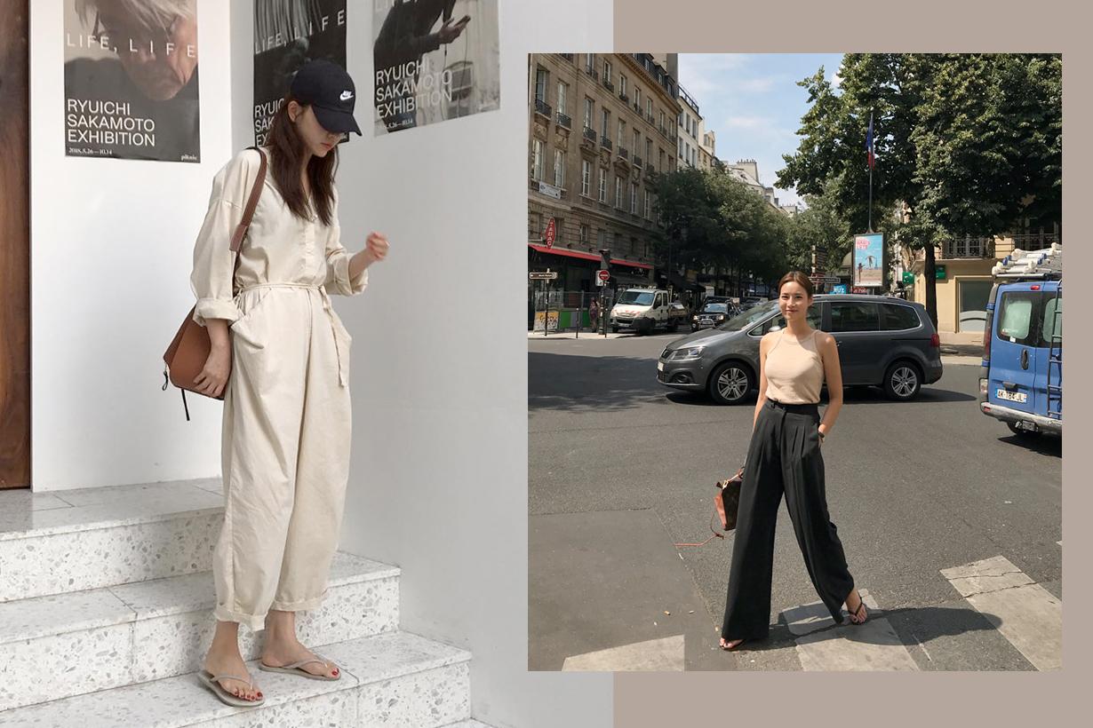 flip flops fashion korean japanese girl inspirations