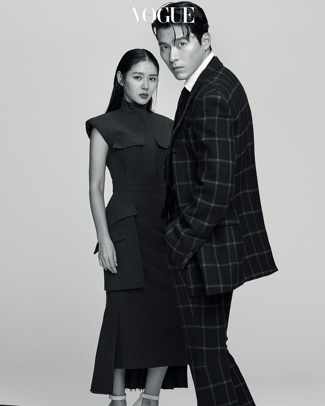 hyun bin and son ye jin shooting vogue for promoting new movie
