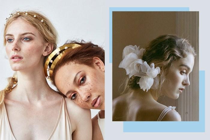 婚紗造型絕非一成不變,時尚新娘就以這些頭飾代替頭紗吧!
