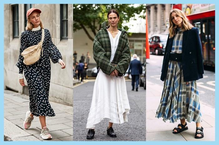 30+ 街拍示範:於 #LFW 街頭曝光率極高,今季買裙子選這個長度才趕得上潮流!