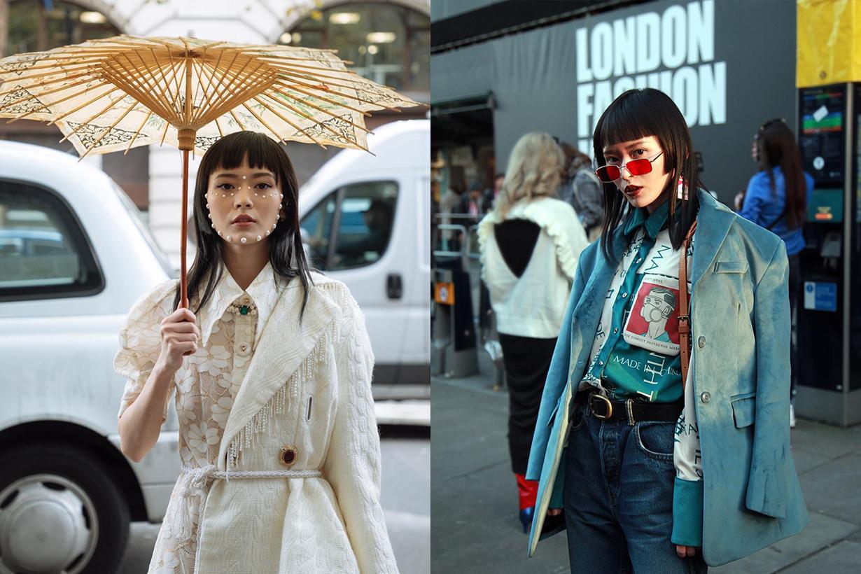 fashion blogger freya sinyu siu from china in London fashion show street