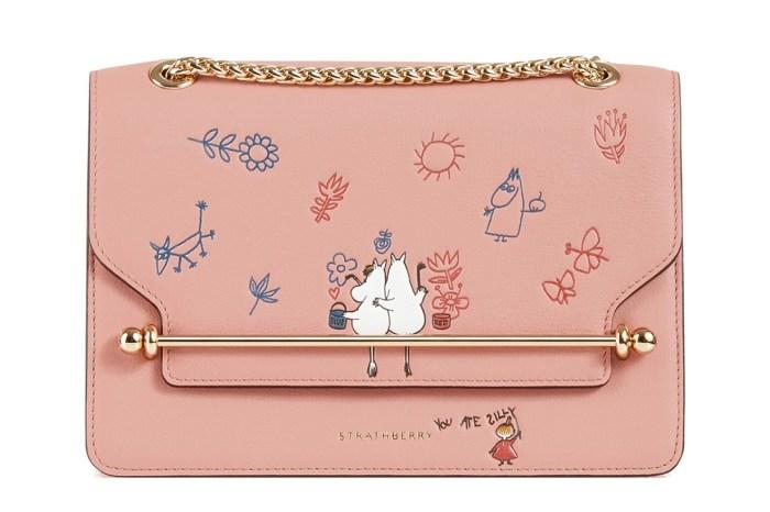 Strathberry X Moomin 聯乘系列:梅根王妃的愛用手袋,畫上姆明後也太可愛了吧!