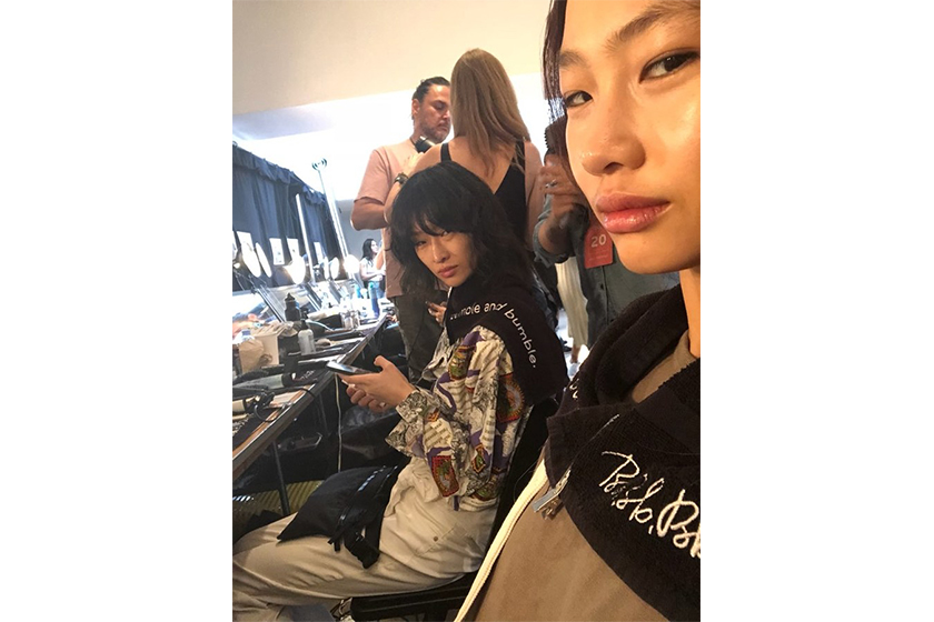 Korean Model HoYeon Jung at backstage