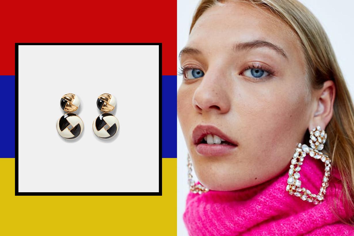 精選 8 對 Zara 80 年代復古風耳環