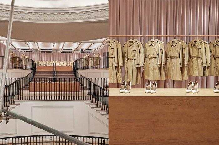 為 Riccardo Tisci 首個發表熱身!Burberry 倫敦旗艦店翻新:以一道道米白布幕,打造歷史劇院!