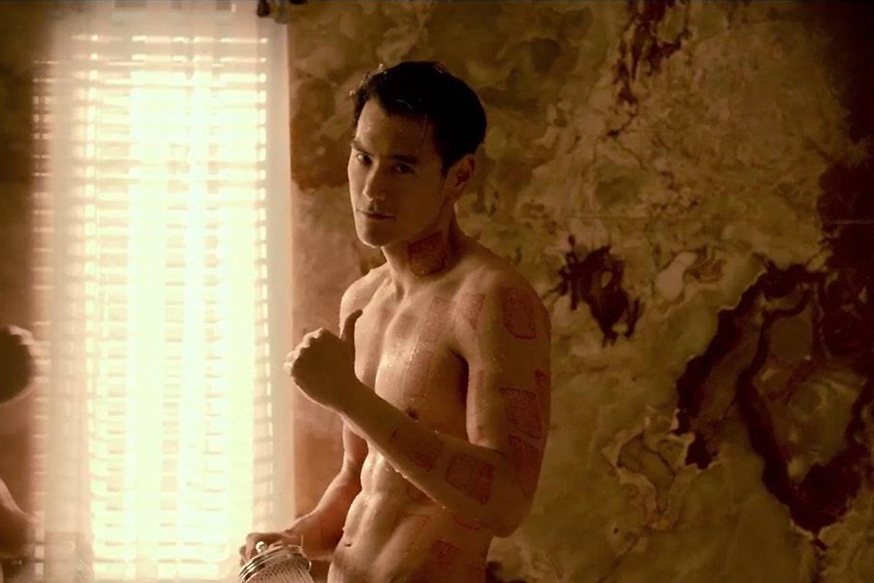 Eddie Yuyan Peng sexy muscle for new movies