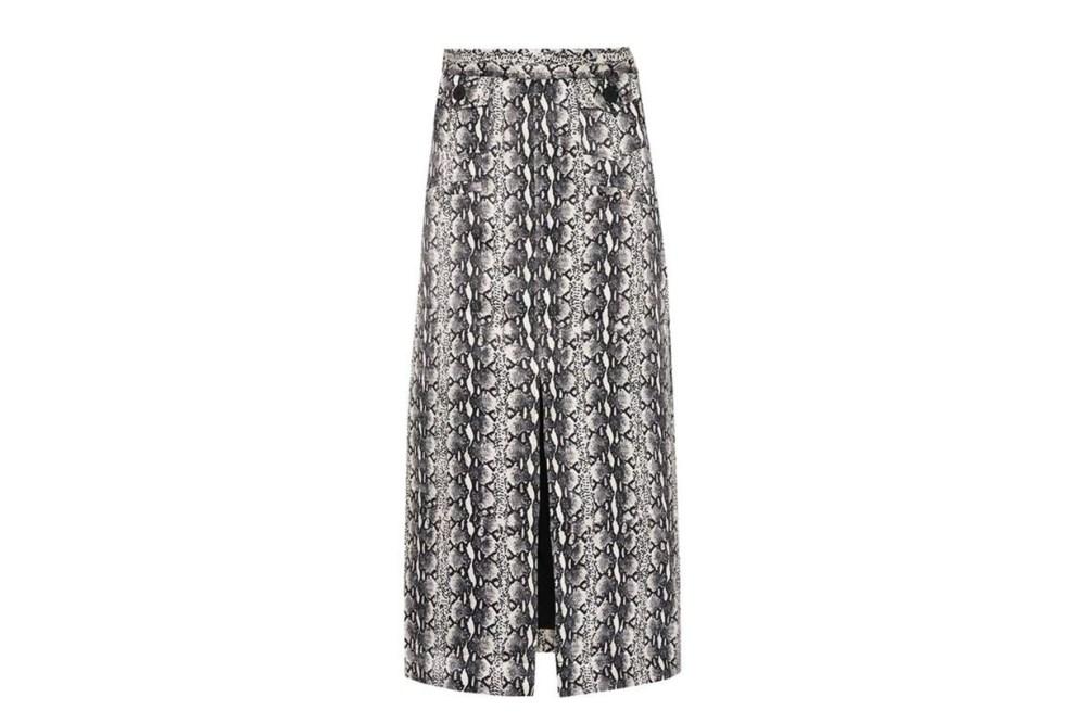 AlexaChung Snake-Printed Skirt