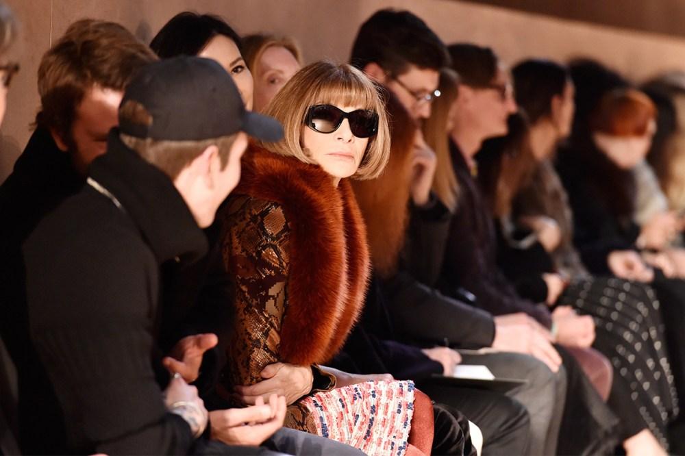 Anna-Wintour Fashion Show Front Row