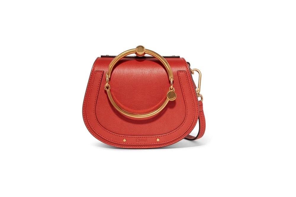 Chloé Nile Bracelet Leather and Suede Shoulder Bag
