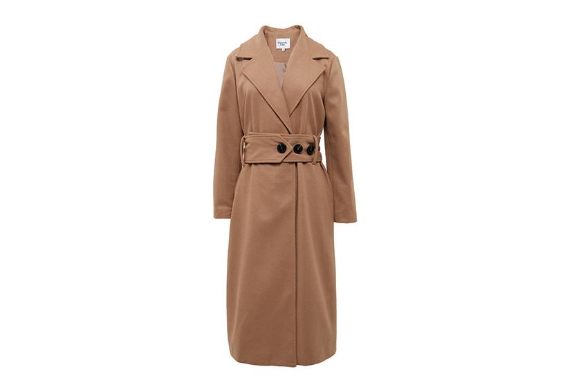 Chriselle Lim Victoria belted camel coat