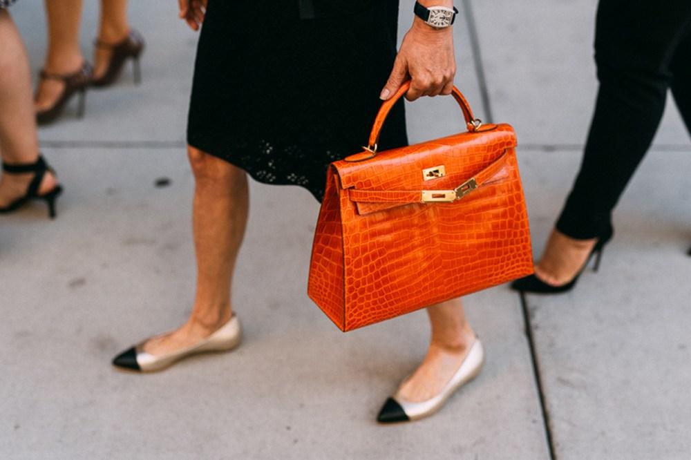 Croc Leather Bag