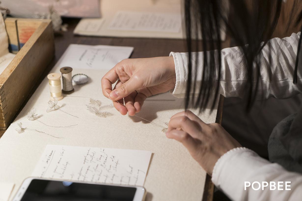 POPBEEbash 第十三回 POPBEE x INSINUO Bridal 蕾絲頭紗工作坊,讓女生們創造出帶意義的新娘飾品