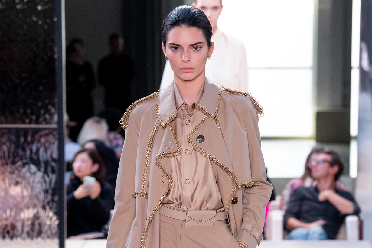 Kendall Jenner for Riccardo Tisci's Burberry debut