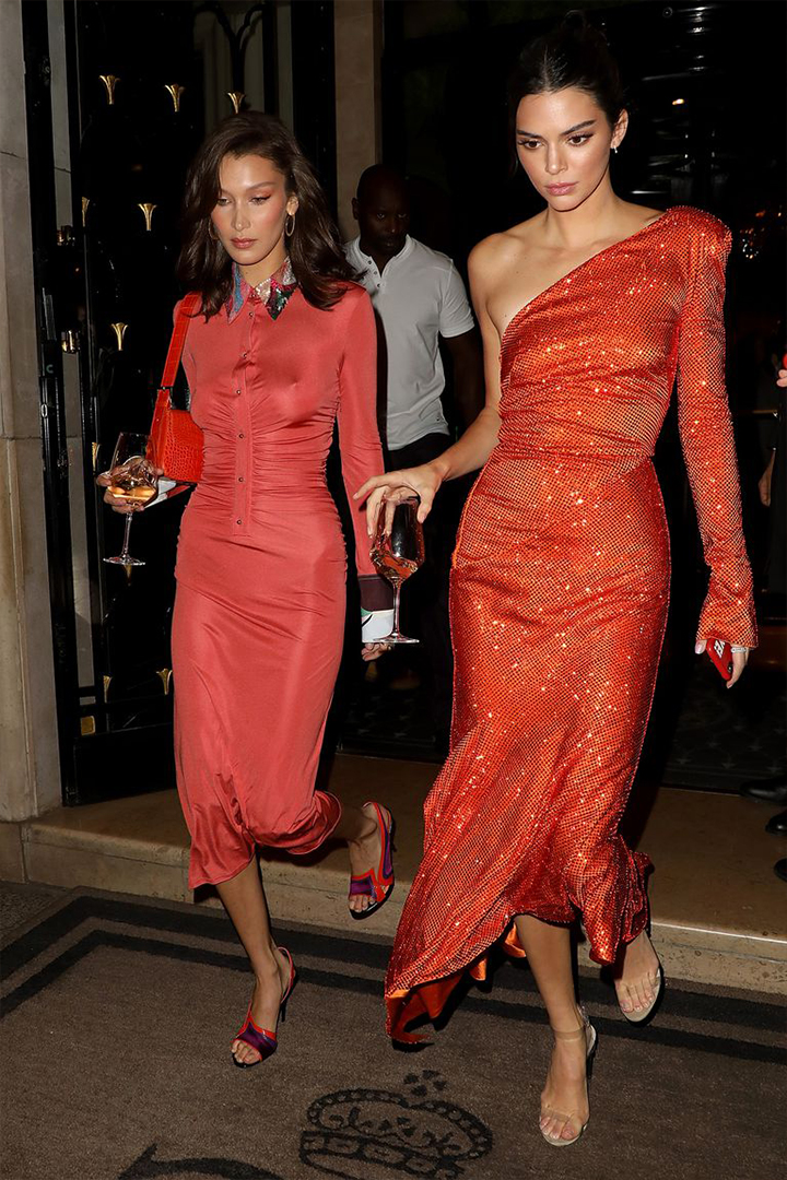 Kendall Jenner and Bella Hadid matchy-matchy dressing