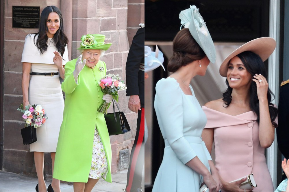 Meghan Markle, Queen Elizabeth II, Kate Middleton