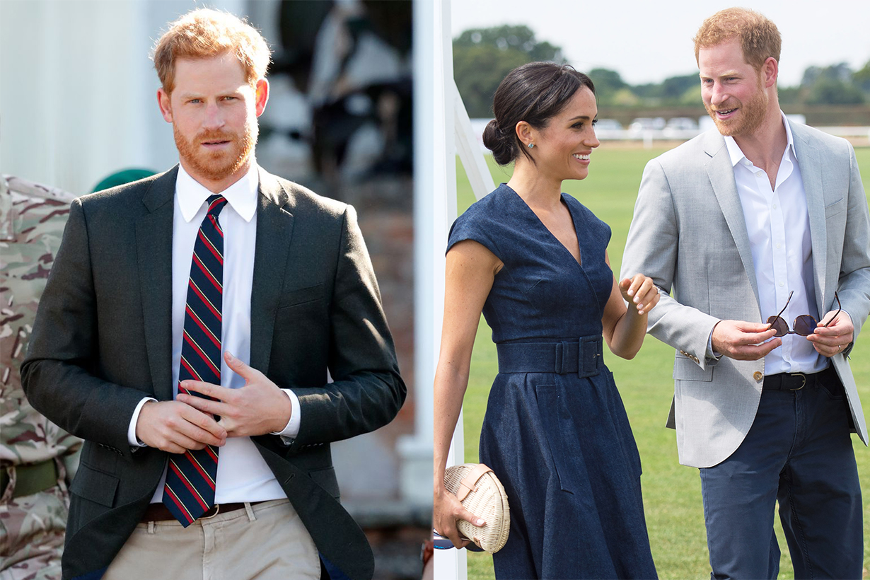 Prince Harry kept touching his wedding ring during a solo engagement