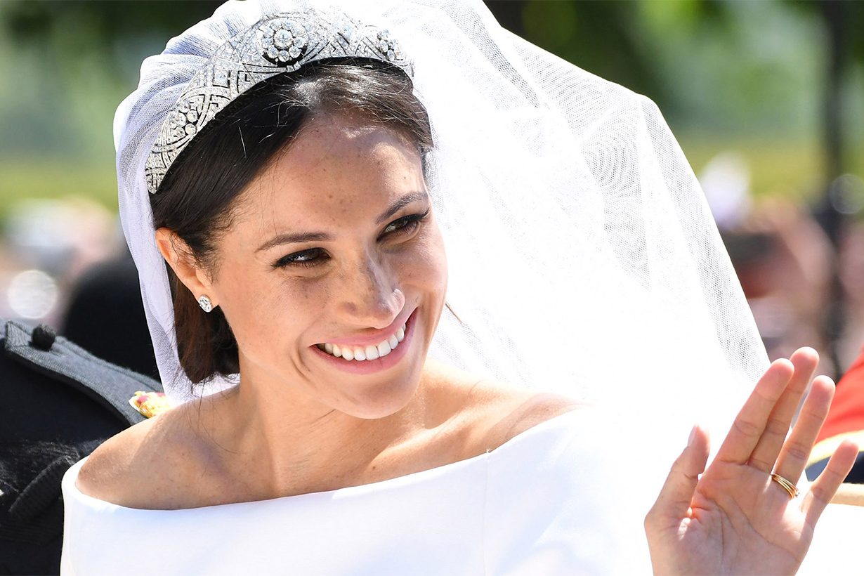 Meghan Markle reveals her something blue was from her first date with Prince Harry
