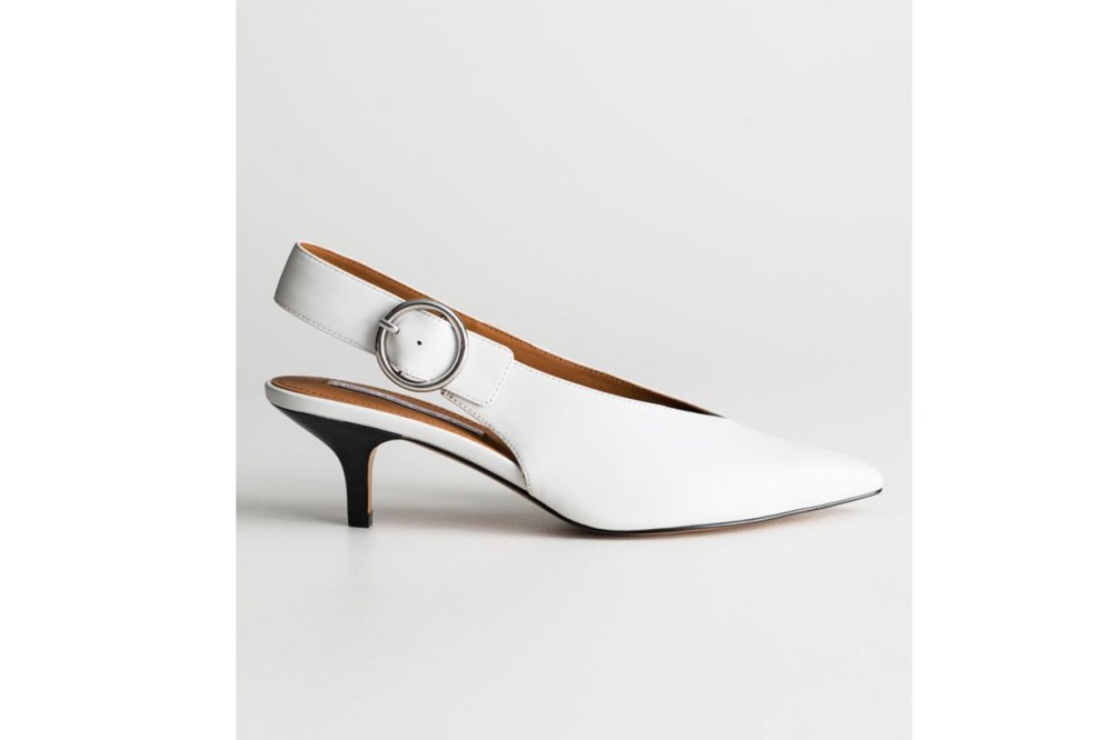 & Other Stories Pointed Slingback Kitten Heels