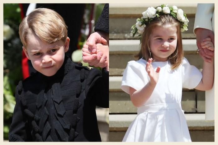喬治王子還忙著做功課,夏洛特公主已像小主人般招呼賓客!