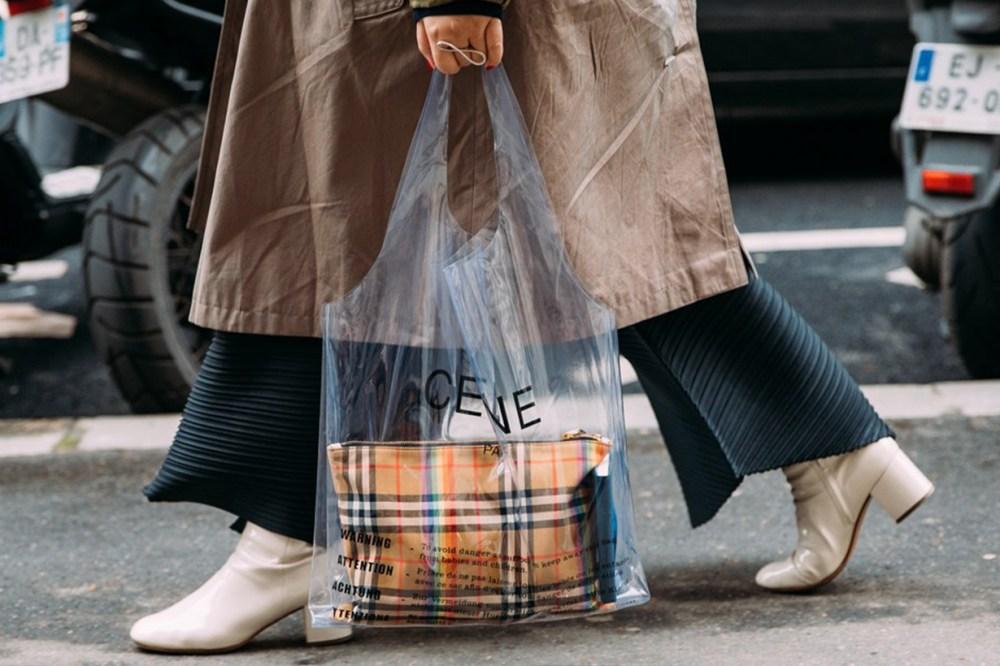 PVC Celine Bag Street Style