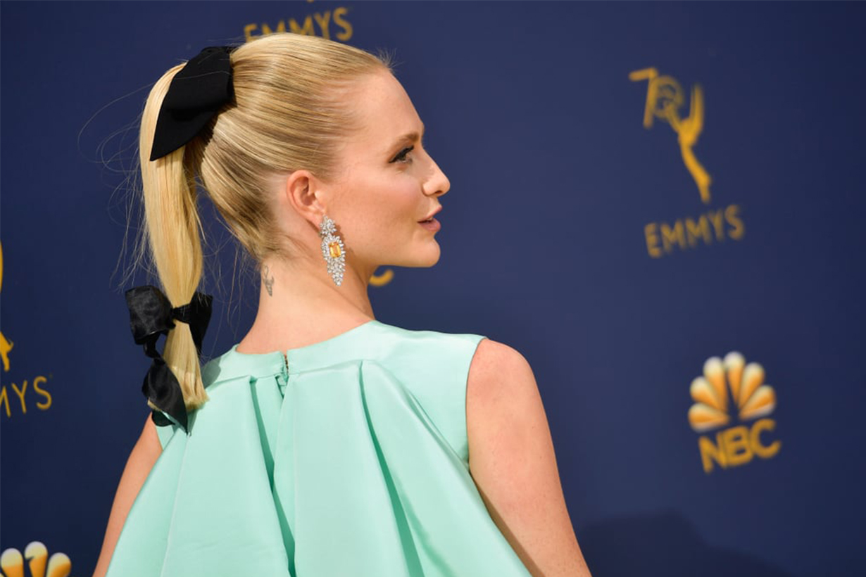 Poppy Delevingne wore the Emilia Wickstead hair trend at the Emmys