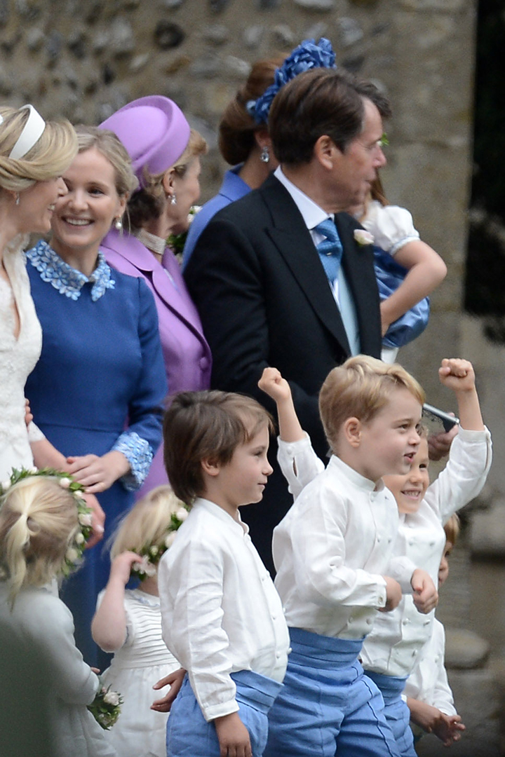 Prince George & Princess Charlotte Steal the Show at Family Friend's Wedding