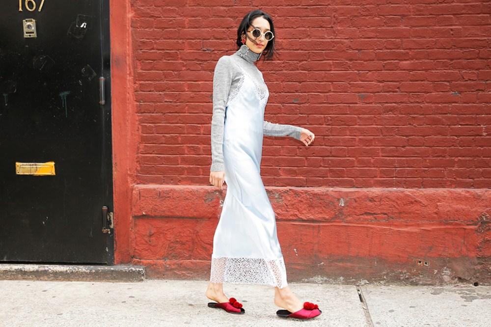 Silk Slip Dress Street Style