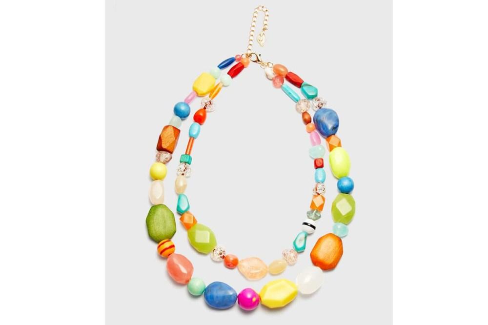 Stradivarius Multicoloured Stone Necklace