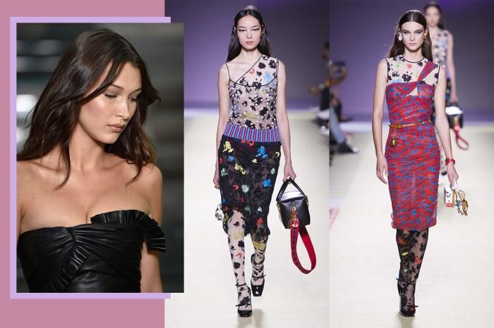 #MFW 超模時代回歸:Versace 釋放魅惑女性美,斜肩設計或成為下季主角!