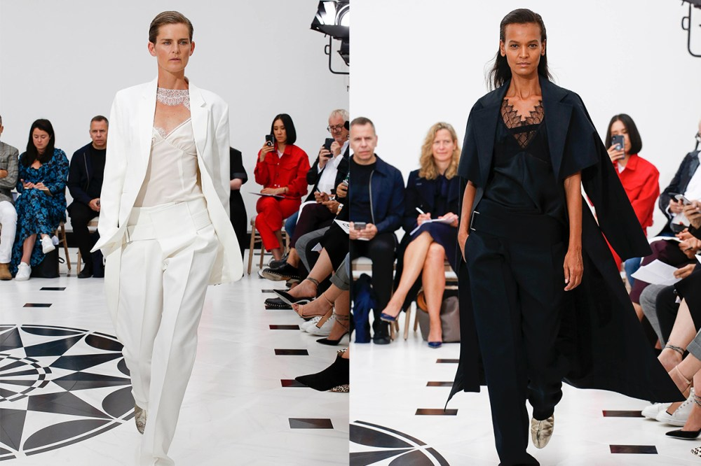 Victoria Beckham London Fashion Week 2019 Models Stella Tennant and Liya Kebede